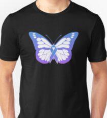 Butterfly - JA Juvenile Arthritis Awareness Unisex T-Shirt