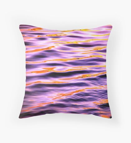 Groovy Ripples Throw Pillow