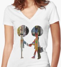 Radiohead  Women's Fitted V-Neck T-Shirt