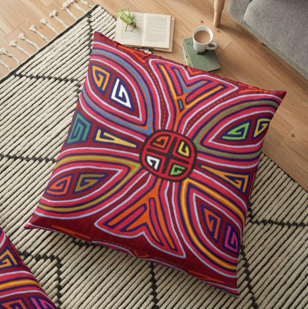 Mola de Panama Floor Pillow