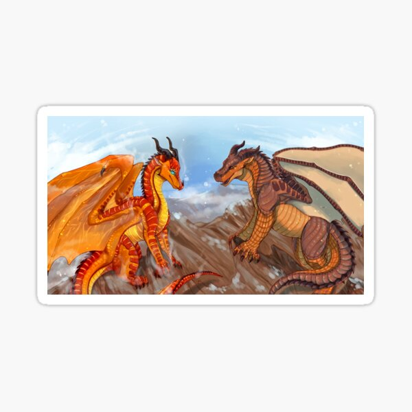 Wings of Fire - Peril and Clay Sticker