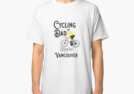 Cycling Dad Reppin' Vancouver