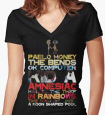 Radiohead albums Women's Fitted V-Neck T-Shirt