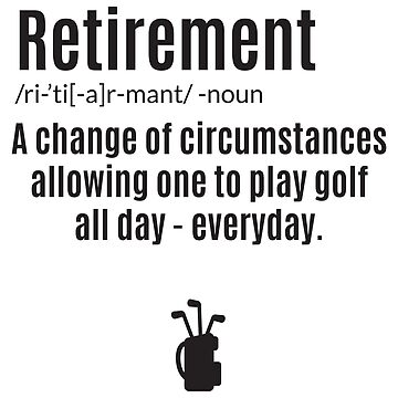 Retirement Golf Shirt & Co Appereal by JannikGHG