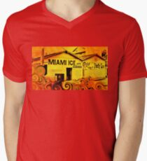 Miami Ice Men's V-Neck T-Shirt