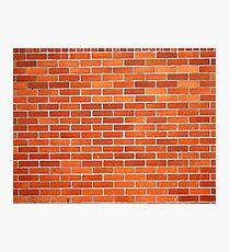 Red brick wall  Photographic Print