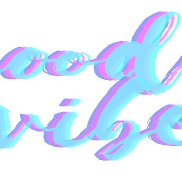 Good Vibes Multicolor Sticker by Claireandrewss