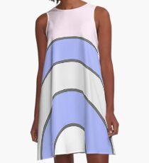 Pastel Rainbow A-Line Dress