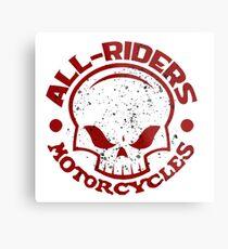 AR Graphic Skull Logo Metal Print