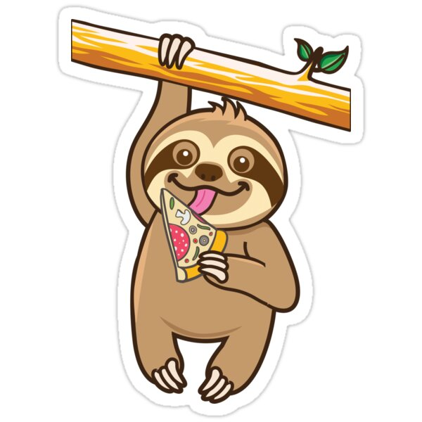 Cute Sloth Pizza