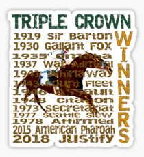 Triple Crown Winners 2018 Justify Sticker