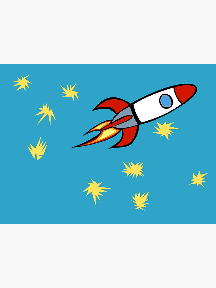 For a Boy (Rocket with Matisse Stars) by richackoon