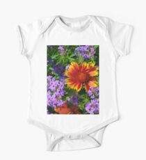 Colorful Flowers One Piece - Short Sleeve