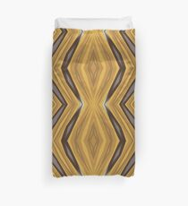Yellow , Ochre and Brown Diamond Pattern Duvet Cover