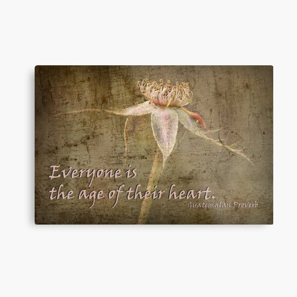 Everyone is the age of their heart . . . Metal Print