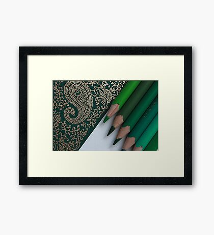 The Right Green Framed Print