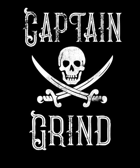 Personalized Pirate Shirt Vintage Pirates Shirt Personal Name Pirate TShirt Captain Grind by FairOaksDesigns