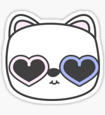Cool Kitty Cat with Heart Sunglasses Sticker