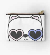 Cool Kitty Cat with Heart Sunglasses Studio Pouch
