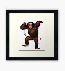 Yo Yo Chimp Framed Print