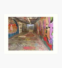Graffiti Tunnel Art Print