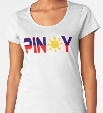 Pin*y Patriot Flag Series 1.0 Premium Scoop T-Shirt