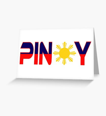 Pin*y Patriot Flag Series 1.0 Greeting Card