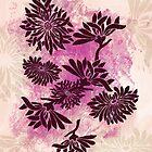Peonies (black on pink) by Sybille Sterk