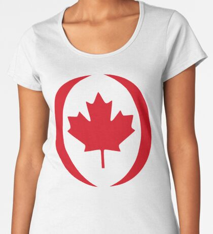 Canadian Patriot Flag Series 1.0 Premium Scoop T-Shirt