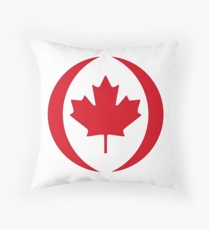 Canadian Patriot Flag Series 1.0 Throw Pillow