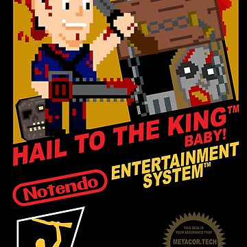 Retro Video Games Nintendo NES Cover Art Hail to the King Baby by McPod