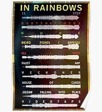 Radiohead - In Rainbows - Sound Wave Poster