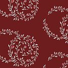 Little Flowers - Red & White by Rose Sherman