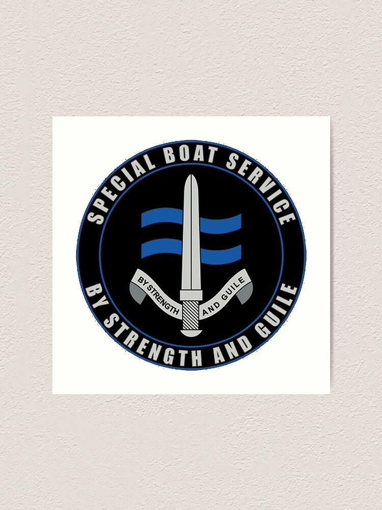 Alternate view of  Special Boat Service (SBS) Logo Art Print