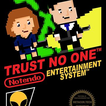 Retro Video Games Nintendo NES Cover Trust No One by McPod