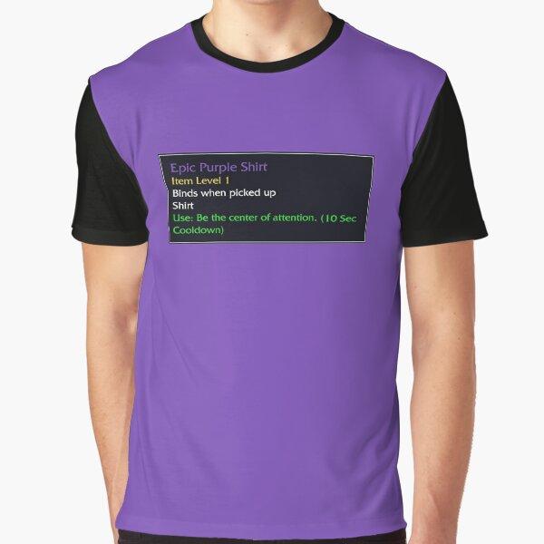 Episches lila Hemd Grafik T-Shirt