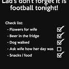 Football Check List  by ThoughtsOfAngel