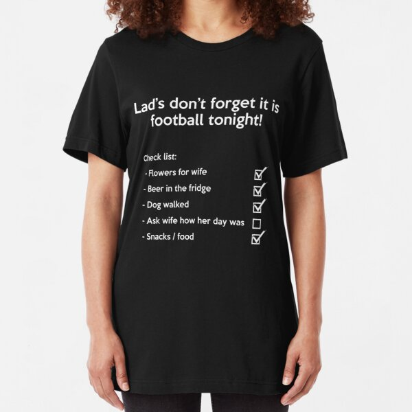 Football Check List  Slim Fit T-Shirt