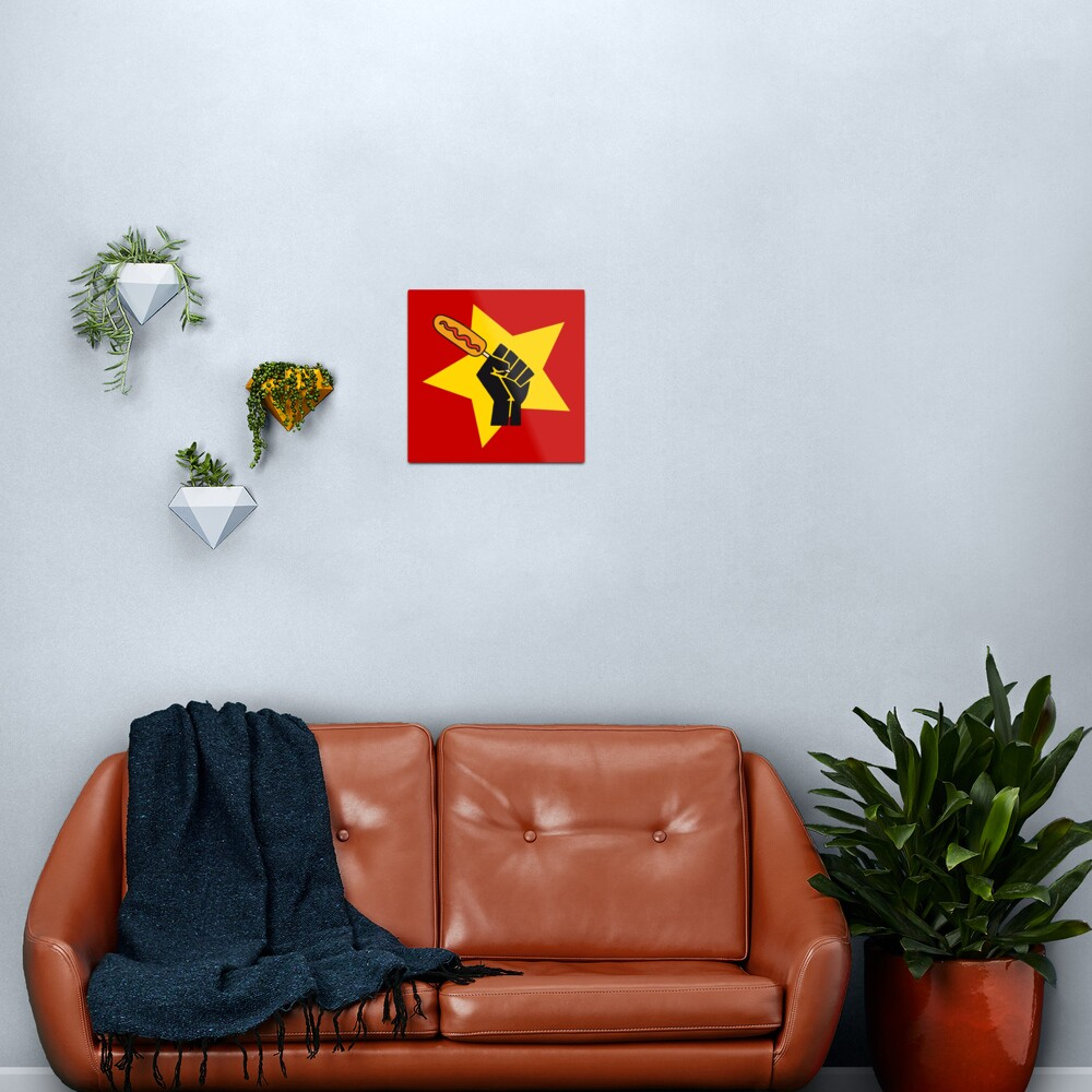 Communist fist with funny pogo parody HD HIGH QUALITY ONLINE STORE Metal Print