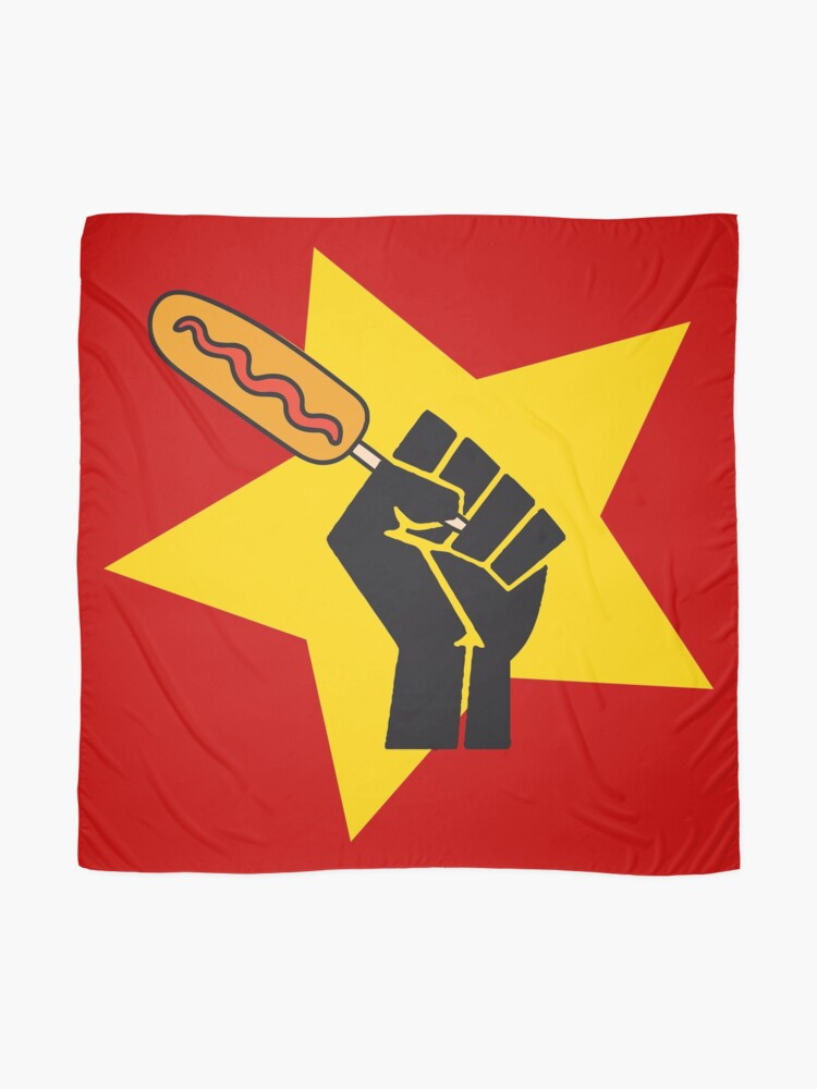 Alternate view of Communist fist with funny pogo parody HD HIGH QUALITY ONLINE STORE Scarf