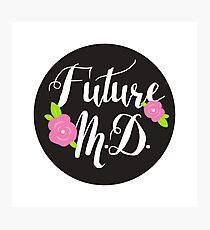 Future M.D. - SCRIPT/FLORAL 2 Photographic Print
