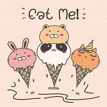 Cute Animal Ice Cream by Camarada223