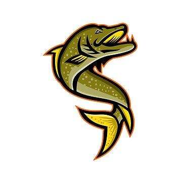 Northern Pike Sports Mascot by patrimonio