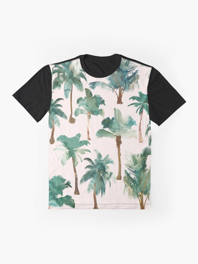Alternate view of Palm Trees Tropical Graphic T-Shirt