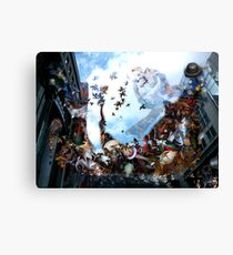 Playing with Magritte in the spirt of Breughel  Canvas Print