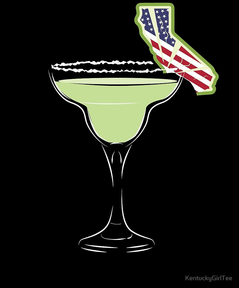 Cute US Flag Flag California Lime Margarita Shirt July 4th by KentuckyGirlTee