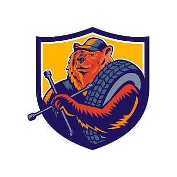 Bear Tireman Crest by patrimonio