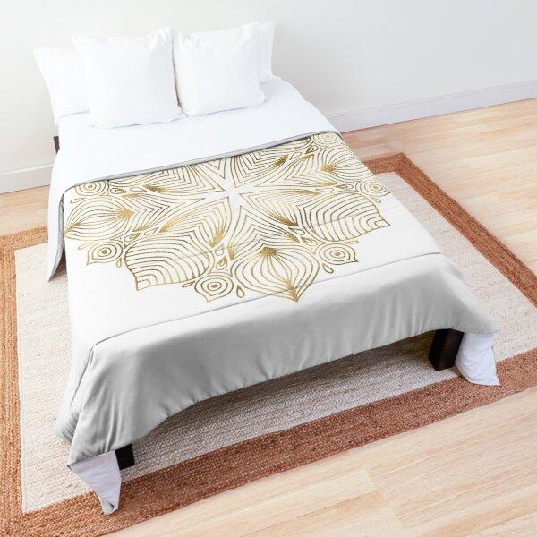 Gold Boho Mandala Comforter