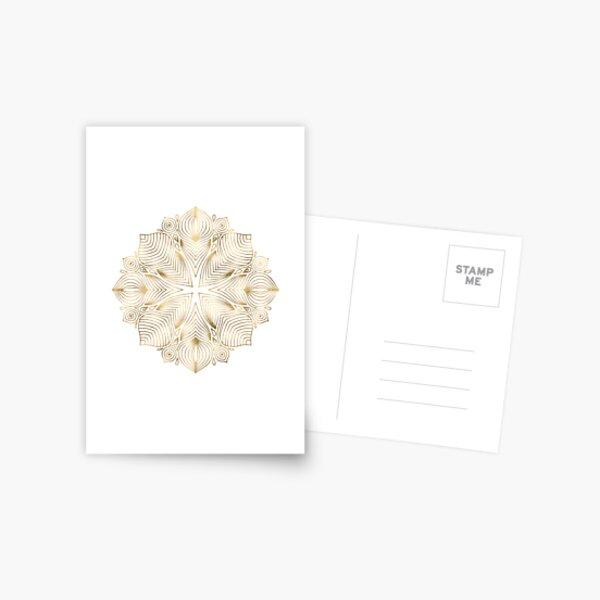 Gold Boho Mandala Postcard