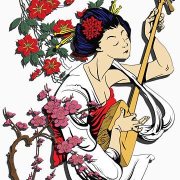 Vintage Geisha-VII by garmsink